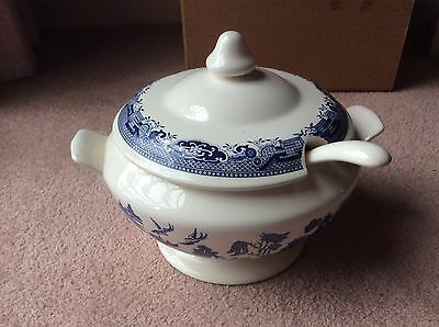 Willow, Blue & White Soup Tureen With Ladle, Webb Japan Brand