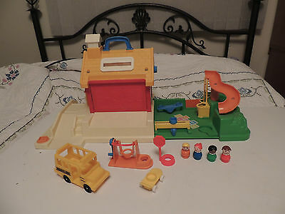 Vintage Fisher Price Little People School & Playground & Accessories 2550