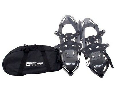Will Land Outdoors Adult Size Snowshoe Set With Bonus Carrying Case Bag! NEW