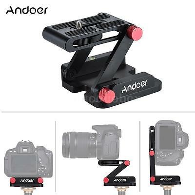 Z-Type Desktop Video Tripod Tilt Head Quick Release Plate Holder for DSLR Camera