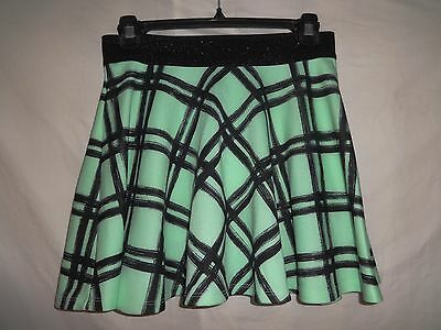 Girls Size 14 Skort Skirt JUSTICE Black Green