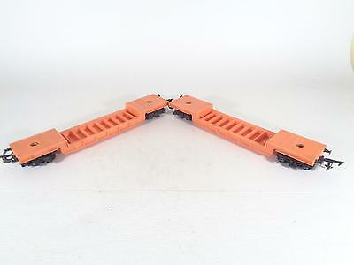 TRIANG R118 BR Orange Bogie Well Wagon 41917 - EXCL PAIR