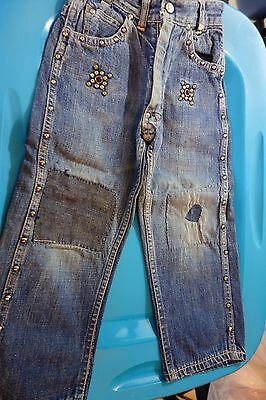 1950's Boys JEANS w/Studs-Small- Billy the Kid Panchito-Blue Denim- Studs- SALE