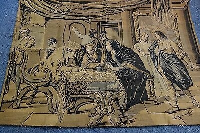 Huge Vintage French Tapestry-49x66- Marriage -Renaissance Look-GORGEOUS-  SALE
