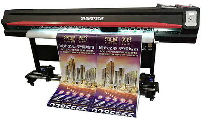 """1850mm 72"""" Large Format ECO Solvent Printer DX5 Dual Heads+RIP,Outdoor&Indoor"""