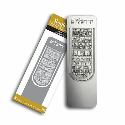 Silver Plated Jerusalem Bookmark Memo Stationery Book Mark Reading Marks Gift