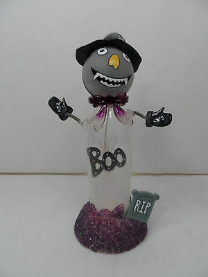 Battery Operated Fibroptic LED Ghost Halloween Light new rip boo