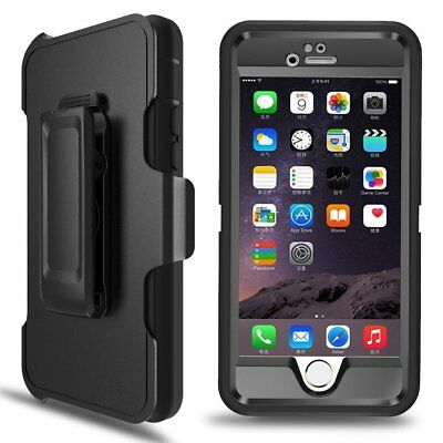 Shockproof Defender Case for iPhone 8 Plus 67 X XS Max Clip fits Otterbox