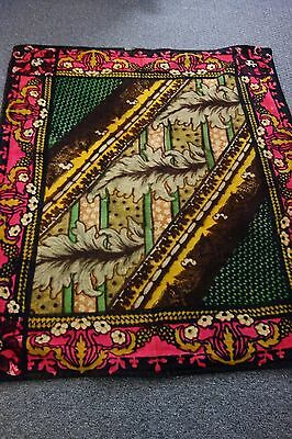 Victorian Chase Carriage Blanket-50x57-Flowers,Huge Leaves-VIVID. DRAMATIC -SALE