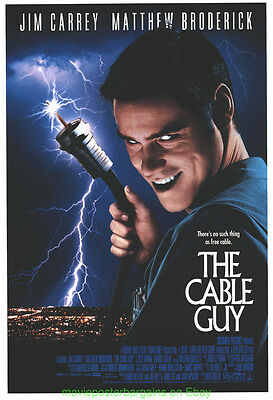 THE CABLE GUY MOVIE POSTER Original DS 27x40 JIM CARREY MATTHEW BRODERICK