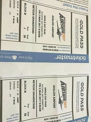 2 x tickets to 2017 Melbourne Air Show