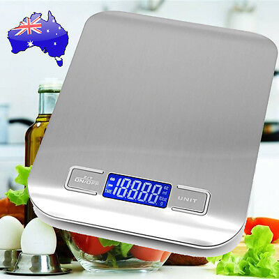 5kg/1g Kitchen Digital Scale LCD Electronic Balance Food Weight Postal Scales AU