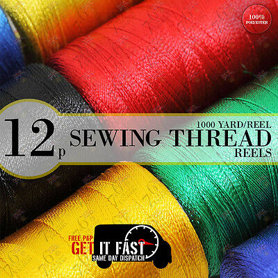 Crafting Sewing Thread Reels For Coats Spun Hand Sewing Machine Polyester Reels