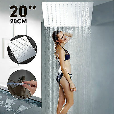 UK Ceiling Mounted Bathroom 20 Inch Stainless Steel Rainfall Large Shower Head
