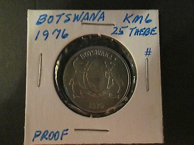 BOTSWANA  25 Thebe 1976  PROOF 26K mintage FDC coin beautiful hint of toning