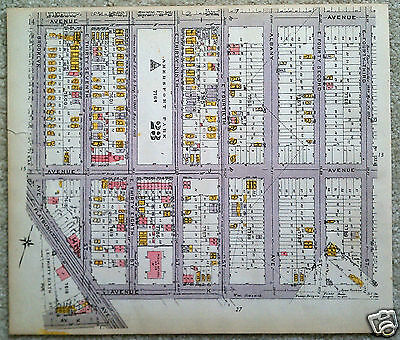Original 1922 Map of the Flatlands Area of Brooklyn  Aves IJ&K at Brooklyn Ave