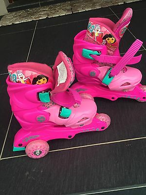 Dora Girls Roller Blades Like New Size 12-2
