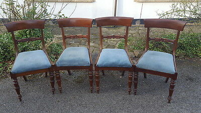 Four Anitque George III Mahogany Dining Chairs with Curved Top rails Circa 1810