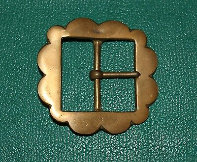 Solid brass vintage re enactment buckle 50mm