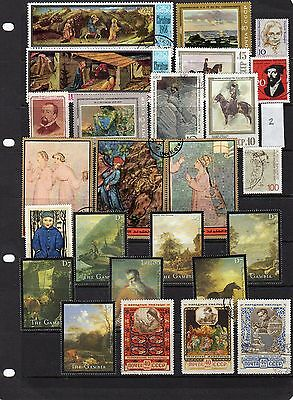 Thematic Stamp Selection Art & Artists 2