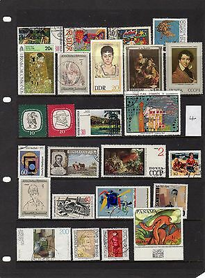 Thematic Stamp Selection Art & Artists 4