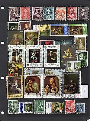 Thematic Stamp Selection Art & Artists 8