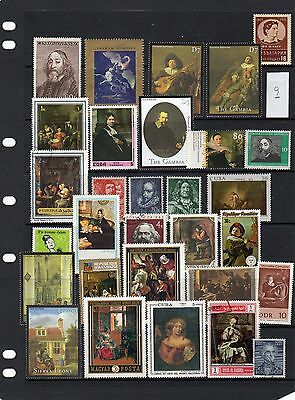 Thematic Stamp Selection Art & Artists 9