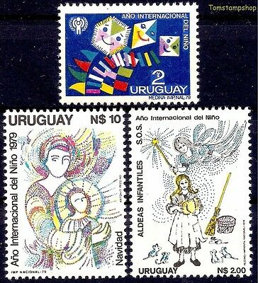 Uruguay 1979 IYC/Child Children's Drawing Christmas Cinderella Tales Mouse Kite