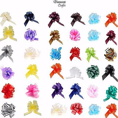30mm Pull Bows - Large - Wedding Car Decoration Gift Wrap Floristry - 30 Colours
