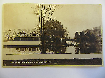 Collectable Vintage RP Postcard - The New Boathouse and Slide, Bedford