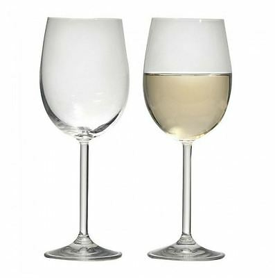 New Ecology Classic European White Wine Glass 350ml Set of 6 Champagne Glasses