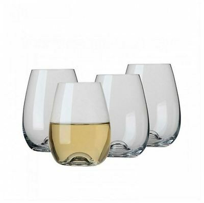 New Ecology Classic European Stemless White Wine Glass 460ml Set of 4 Glassware