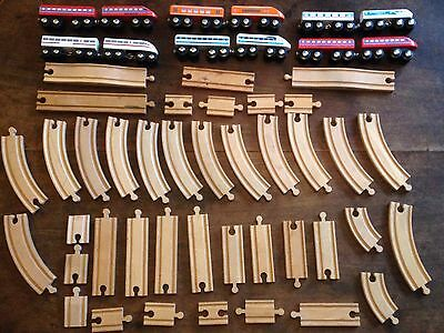 Selection of Brio ELC Wooden Trains and Track