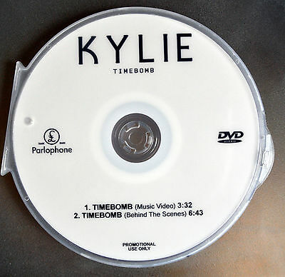 Kylie Minogue DVD music video TIMEBOMB  from kiss me once (not a CD)