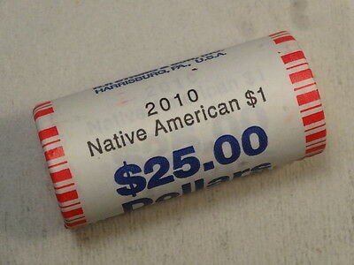 Uncirculated Roll, 2010-D Sacagawea Dollars, NF String Wrap, Near Wholesale -04