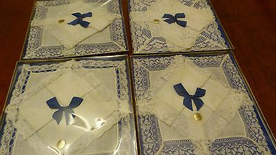 4 Boxed Sets Of Vintage Irish Linen And Lace Wedding Hankies