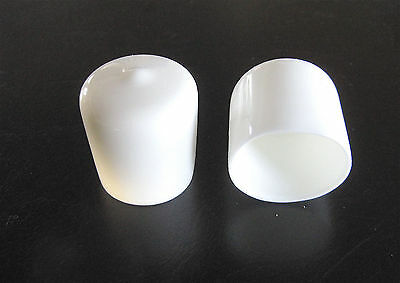 "20 - 1"" White Vinyl Round End Caps 1.0""  Plastic Rubber Pipe Tube Rod Bar Cap"
