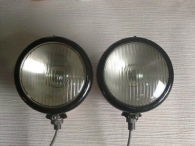 Original Butler Deep Dish Headights For David Brown, Mf And Fordson Tractors.