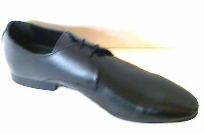 Hell and leather  black leather mens shoes size 7 (p8)