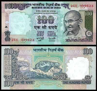 India 100 RUPEES ND 1996 Letter R Sign 89 P 91m UNC