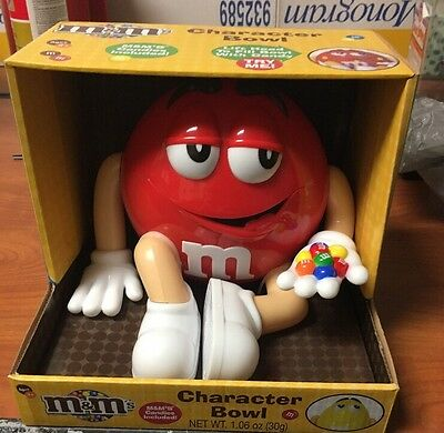 M&M Candy Character Bowl Last Red L@@K Worldwide Shipping Hard To Find