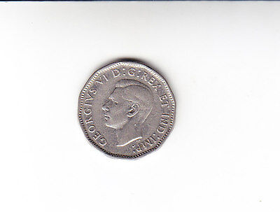 1947 Canada Canadian Nickel Five Cent Coin