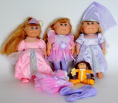 "Cabbage Patch Kids 7"" dolls mixed lot+ vintage figurine Fantasy Collection fairy"
