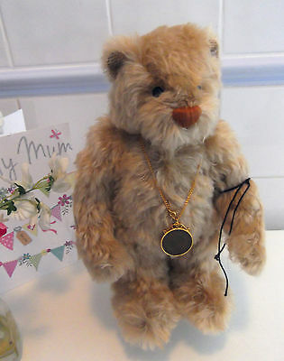 Deans 2003 Qvc Old Penny Mohair Bear With Medallion  Box & Certificate 83 Of 240