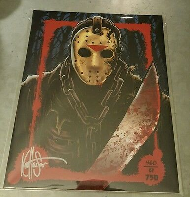 Rare Signed + Numbrd JASON VOORHEES Friday 13th Art Print - #460/750 - BAM Box