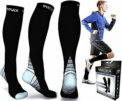 Compression Socks For Men and Women, BEST Graduated Athletic Fit For Running,