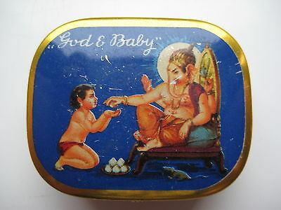 A Vintage Gramophone Needle Tin God And Baby