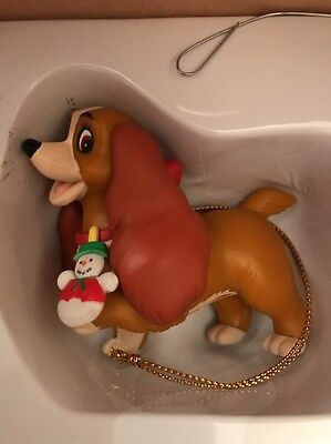 Disney Grolier Lady And The Tramp, Lady Christmas Decoration Ornament With Box