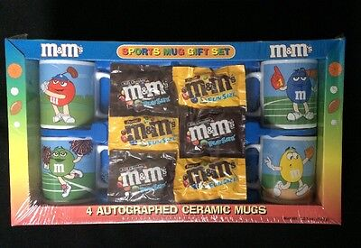 M&M's 4 Mug Set-New in Original Packaging