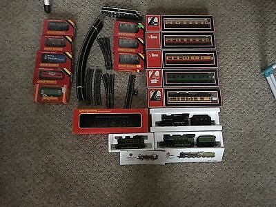 Hornby Job Lot Model Railway 00 Gauge Trains , Wagons ,track ,carriages